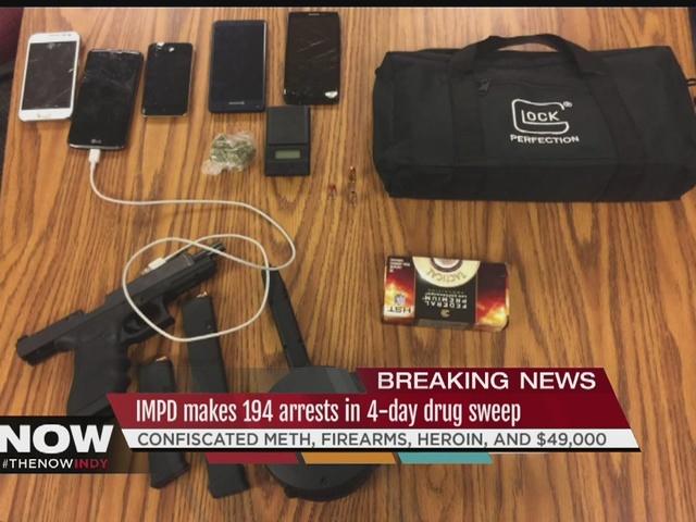 IMPD makes 194 arrests in 4-day drug sweep