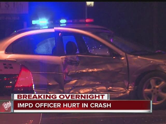 IMPD officer injured in crash on city's southeast side