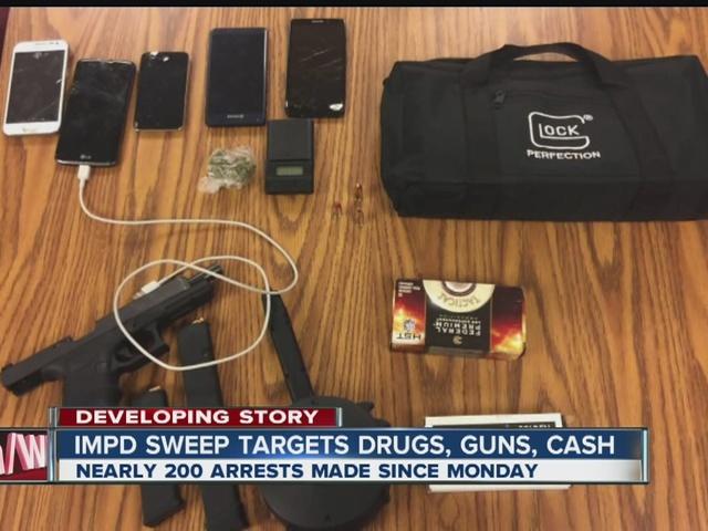 IMPD sweep targets drugs, guns, cash