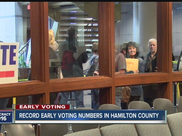 Record early voting numbers in Hamilton County