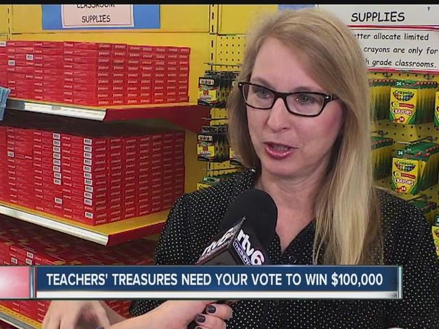Teachers' Treasures needs your vote to win $100,000