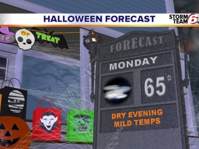 Your Halloween weekend forecast