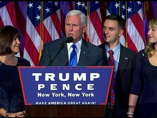 Hoosiers welcome Gov. Pence home with rally