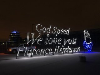 IMS remembers Florence Henderson with lights