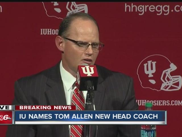 Indiana University head football coach resigns, Tom Allen named new head coach