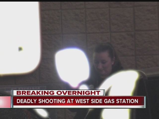 Man found shot dead at west side gas station