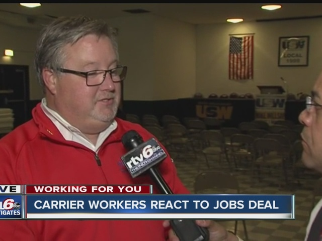 Workers react to Carrier jobs deal that will save over 700 jobs