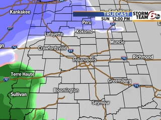TIMELINE: When to expect rain,snow in your area