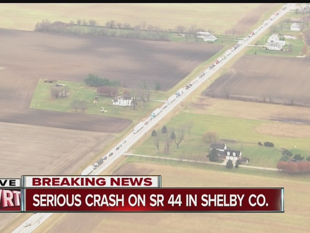 2 people flown from multi-vehicle crash in Shelby Co.