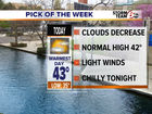 Today: Warmest day of the week