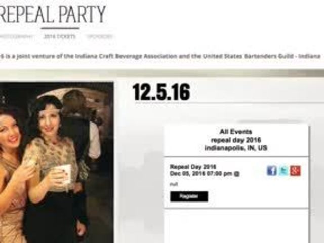 Indy Repeal Party: Celebrate the end of prohibition