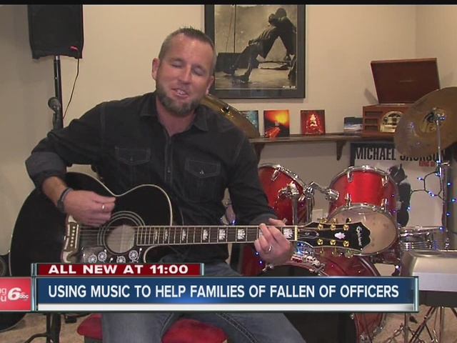Indiana man using song to help families of fallen officers