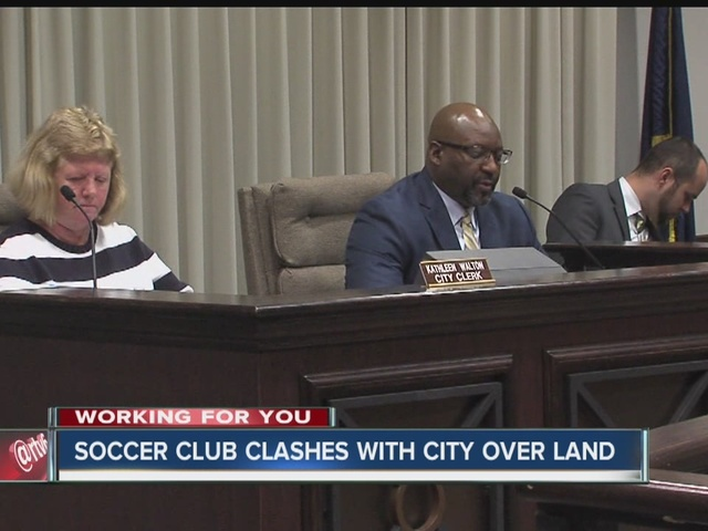 Soccer club clashes with city over land