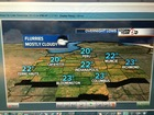 Temps tumble! Flurries tonight. Lows around 20!