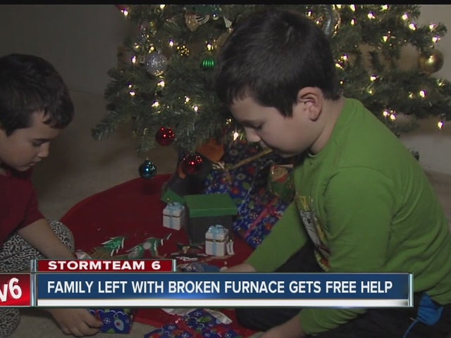 Family with broken furnace gets free help for Christmas