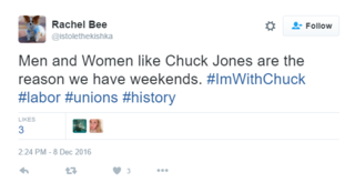 #ImWithChuck Tweets