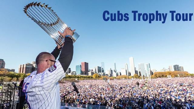Cubs World Series trophy going on multi-state road trip