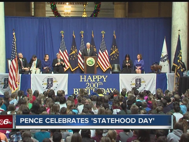 Gov. Pence celebrates Statehood Day