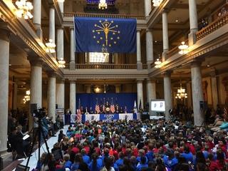 Gov. Mike Pence celebrates Statehood Day