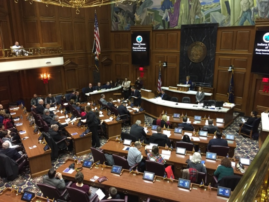 A Tumultous Year In Indiana Politics TheIndyChannelcom - Us map electoral votes 2016 unfilled