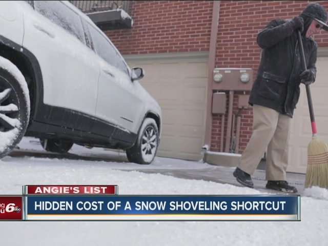 Angie's List: Hidden cost of a snow shoveling shortcut