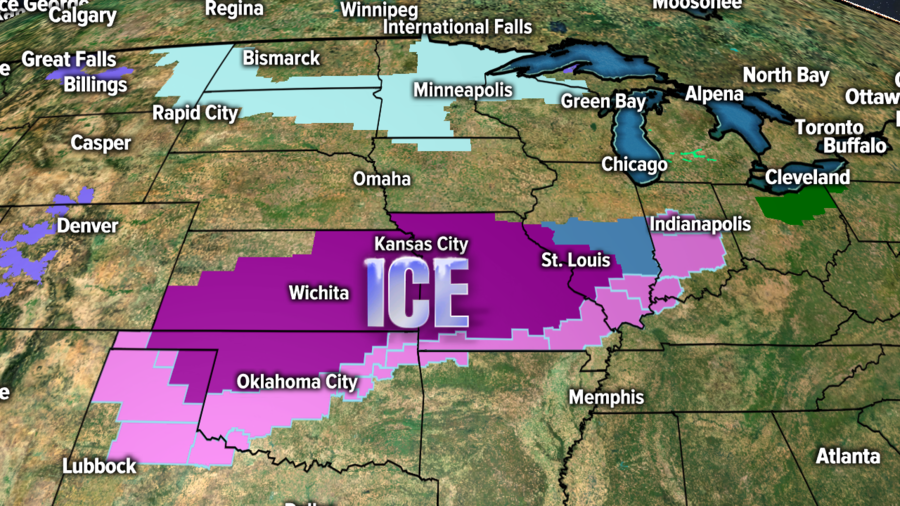 Dangerous Ice Storm Expected Across Central US How Will Central - Indianapolis in on us map