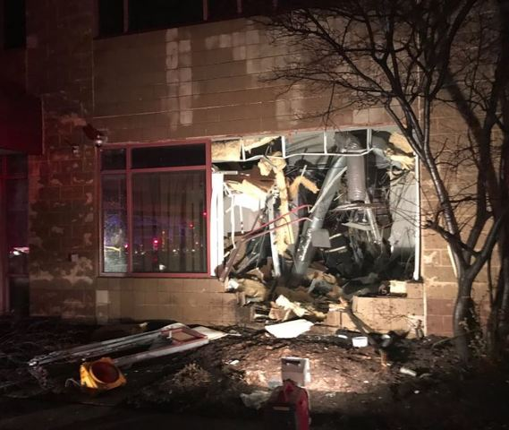 Driver critical after car crashes into building