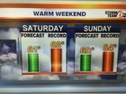Very mild weekend ahead.