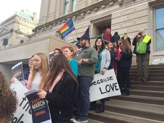 PHOTOS: Women's Rally at Indiana Statehouse