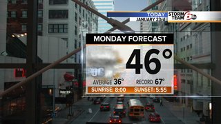 Cloudy, breezy today - some patchy drizzle