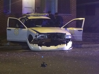 IMPD officer hurt in crash during chase