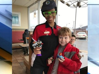 Teen's act of kindness makes autistic boy's day