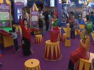 New circus exhibit opens at children's museum