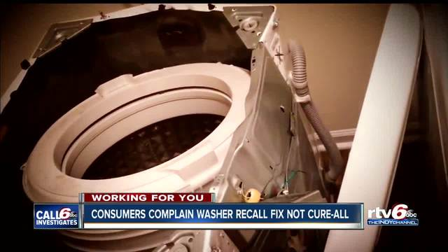 CALL 6: Consumers complain washer recall fix doesn't work