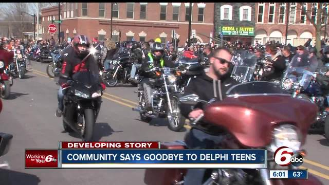 Friends and family gather together to say final goodbyes to Delphi teens