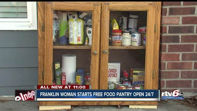 franklin woman starts free self service food pantry open