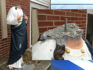 Vandals decapitate Jesus statue at Indy church