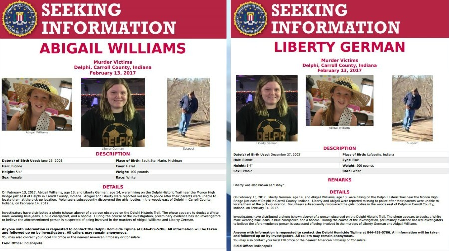 Delphi, Indiana: FBI posters seek information on Delphi murders