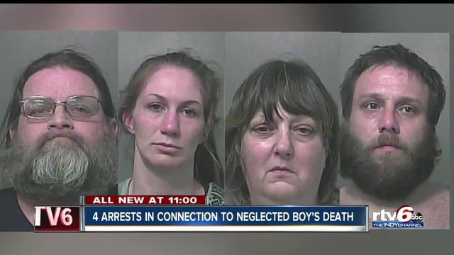 Four arrested in neglected boy-s death