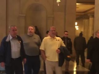 Rexnord workers meet with Gov. Holcomb