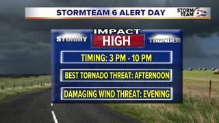 ALERT: Warm & Windy - Severe PM Storms