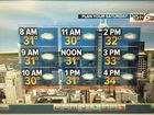 T'Storms leaving. Much colder air arriving.