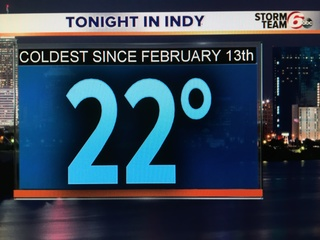 Crank up the heat! Even colder tonight!