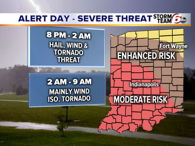 ALERT DAY: Moderate risk for severe weather