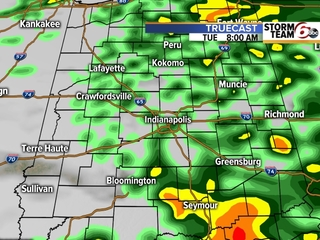 TIMELINE: Rain this morning, storms this evening