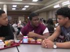 Football players mentor middle school students