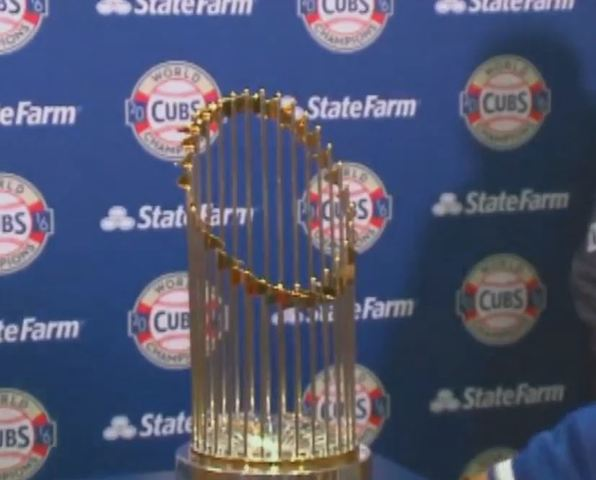 Cubs World Series Trophy Tour Indianapolis