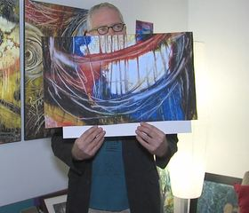 Artist paints to help fight his Parkinson's