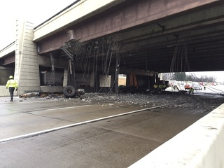 Trucking company cited after I-465 bridge crash