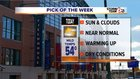 Dry, warmer today; showers, storms this weekend